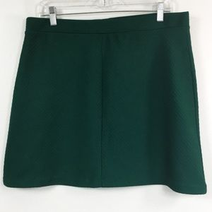 H&M green A-line skirt